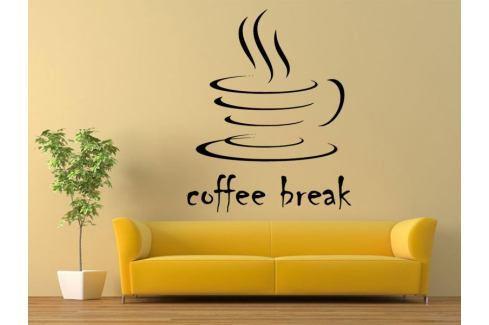 Samolepka na zeď Nápis Coffee break 0043 Káva