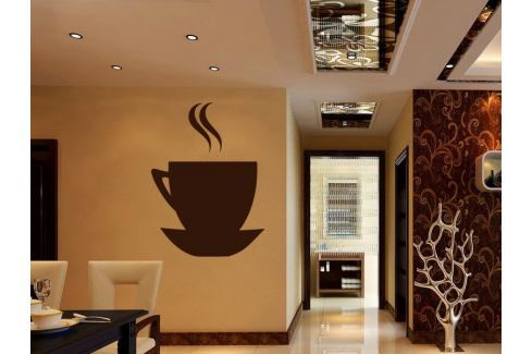 Samolepka na zeď Hrnek kávy 0046 Káva