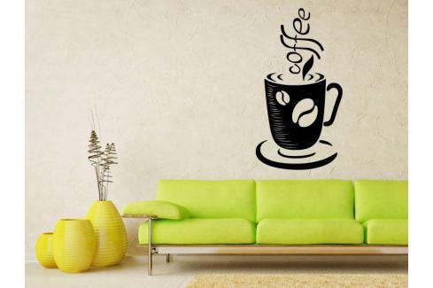 Samolepka na zeď Hrnek kávy 0050 Káva