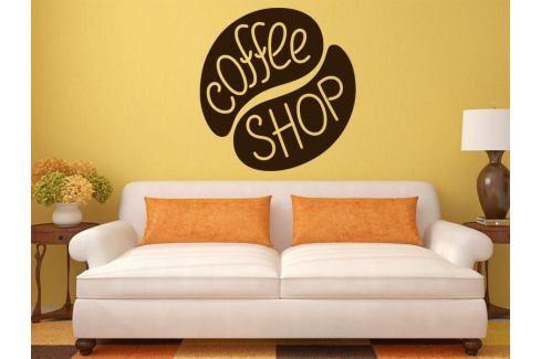 Samolepka na zeď Nápis Coffee shop 0055 Káva