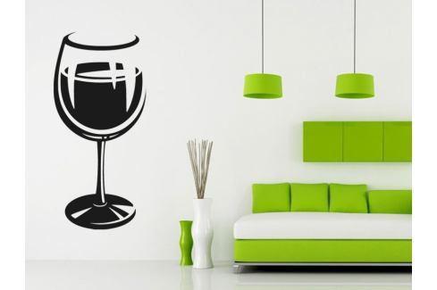 Samolepka na zeď Sklenice na víno 0077 Sklenice