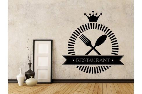 Samolepka na zeď Příbory a nápis Restaurant 0088 Příbory