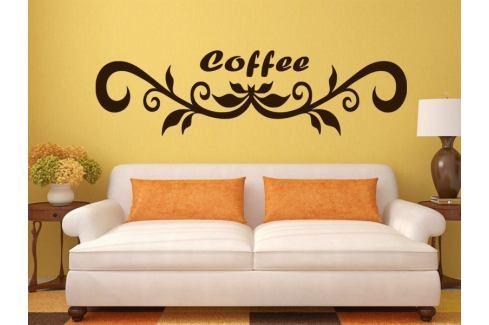 Samolepka na zeď Nápis Coffee 0106 Káva
