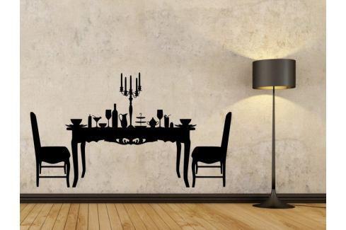 Samolepka na zeď Prostřený stůl 0113 Nábytek