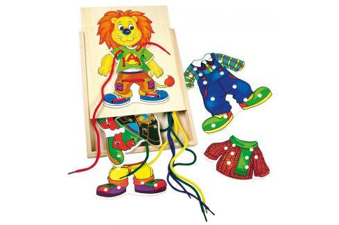 Bino Lvíček Leo, první šití Dřevěné hračky