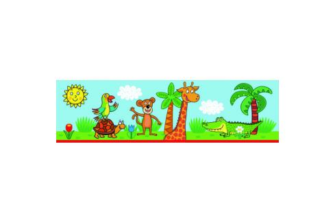 AG Art Samolepicí bordura Žirafa, 500 x 14 cm  Tapety