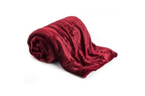 Jahu Deka XXL / Přehoz na postel červená, 200 x 220 cm Přikrývky