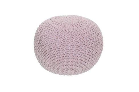 Tempo Kondela Pletený taburet Gobi 1, růžová Botníky