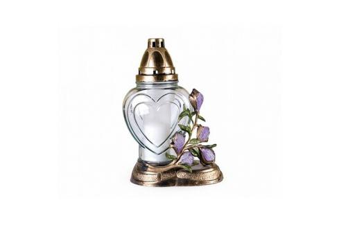 Skleněná lampa s plastickým dekorem Magnolia Dekorativní svíčky