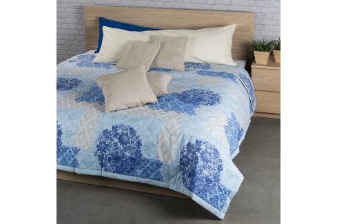 Night in Colours Přehoz na postel Ottorino modrá, 160 x 220 cm Přikrývky