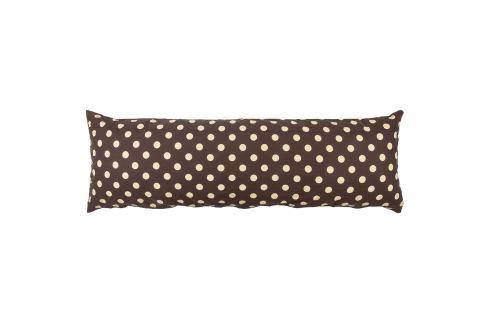 4Home Povlak na Relaxační polštář Náhradní manžel Puntík Čokoláda, 50 x 150 cm  Ložní povlečení