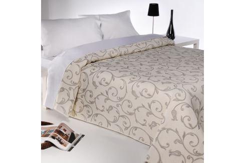 Forbyt Přehoz na postel Lis béžová, 240 x 260 cm Přikrývky
