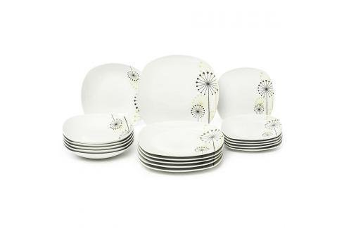 VANESA Jídelní souprava talířů z porcelánu 18dílná, MÄSER Sady nádobí