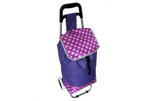 Nákupní taška na kolečkách Puntík, fialová Nákupní tašky a košíky