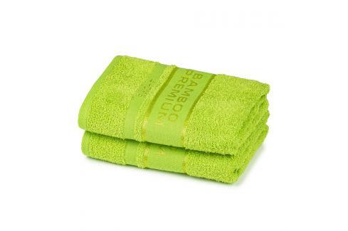 4Home Bamboo Premium ručník zelená, 50 x 100 cm, sada 2 ks Ručníky