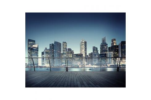 AG Art Fototapeta XXL Noční panorama mrakodrapů 360 x 270 cm, 4 díly   Tapety