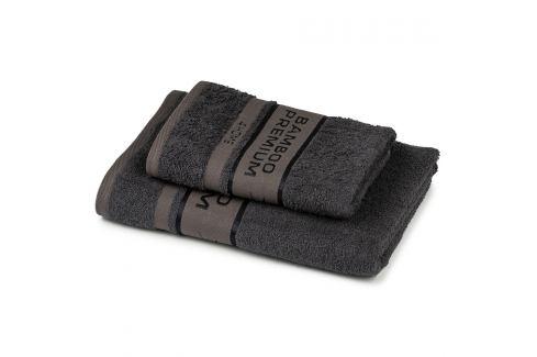 4Home Sada Bamboo Premium osuška a ručník tmavě šedá, 70 x 140 cm, 50 x 100 cm Ručníky
