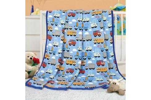 Bellatex Dětská deka Ella Autíčka, 100 x 155 cm Dětské deky