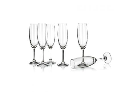 Banquet Crystal Sklenice na sekt Leona 210 ml Sklenice