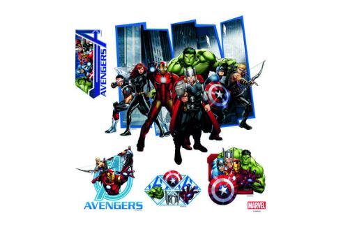 AG Art Samolepicí dekorace Avengers, 30 x 30 cm Samolepky na zeď