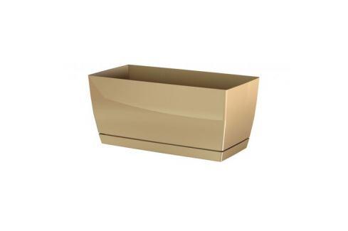 Prosperplast Plastový truhlík Coubi Case s miskou kávová, 24 cm Květináče a truhlíky