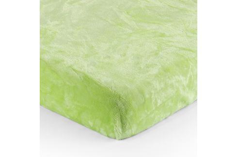 Jahu Prostěradlo Mikroplyš zelená, 90 x 200 cm Prostěradla
