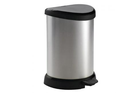 Curver Odpadkový koš Curver Decobin 20l pedál – stříbrný  Odpadkové koše
