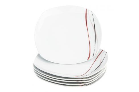 Domestic 6dílná sada mělkých talířů Amelie, 25 cm Talíře