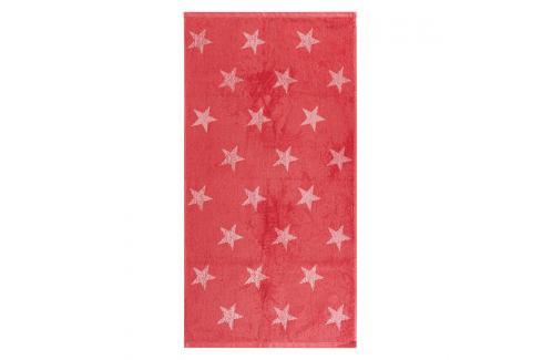 JAHU Ručník Stars růžová, 50 x 100 cm Ručníky