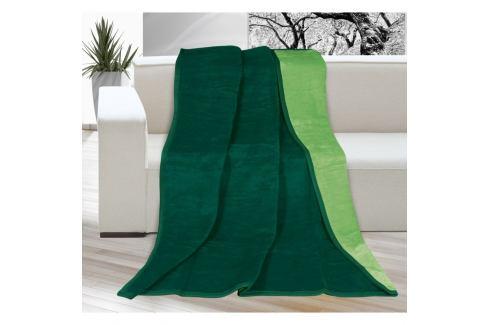 Bellatex Deka Kira tmavě zelená/zelená, 150 x 200 cm Přikrývky