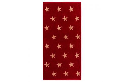 JAHU Osuška Stars červená, 70 x 140 cm Ručníky