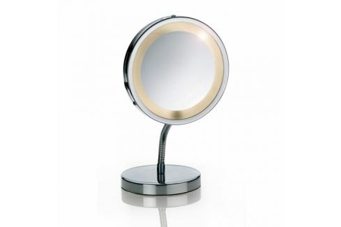 zrcátko na postavení LOLA se světlem , chrom 3xzvětšující KELA KL-21496 Koupelnový nábytek