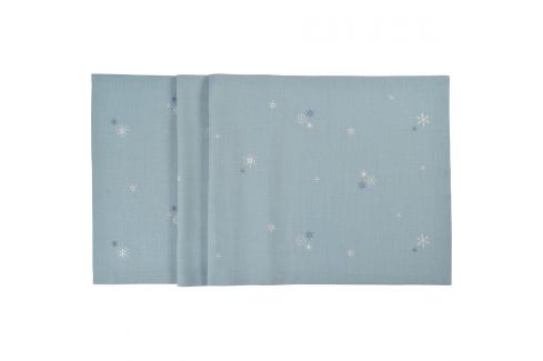 Sander Ubrus Crystalized modrá 50 x 150 cm Ubrusy