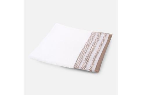 Ručník Piemonte hnědý 50x50 cm bílá Utěrky