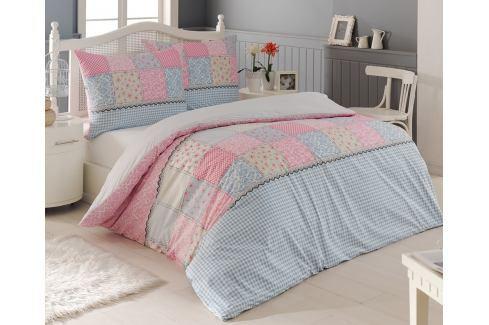 Povlečení Elegante růžové 140x200 jednolůžko - standard bavlna Květinové vzory