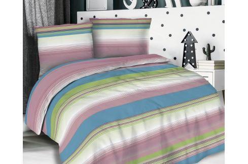 Flanelové povlečení Lillian barevné 140x200 jednolůžko - standard Flanel Geometrické vzory