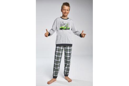 Chlapecké pyžamo Cornette Street  šedozelená Novinky