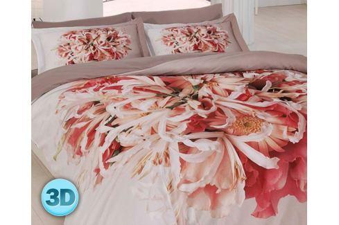3D saténové povlečení Flor 140x200 jednolůžko - standard Bavlněný satén Květinové vzory