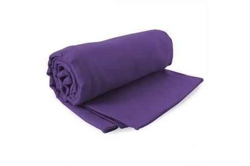 Sada rychleschnoucích ručníků Ekea fialová 1 ks 70x140 cm, 1 ks 30x50 cm, Set fialová Plážové doplňky