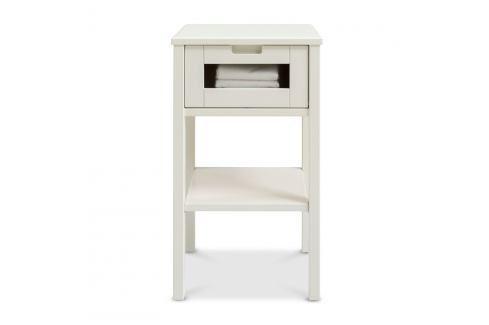 Bílý ručně vyráběný noční stolek z masivního březového dřeva Kiteen Haiku Noční stolky