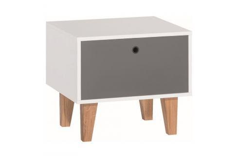 Šedo-bílý noční stolek Vox Concept Noční stolky