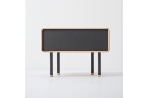 Noční stolek z dubového dřeva s černou zásuvkou Gazzda Fina Noční stolky