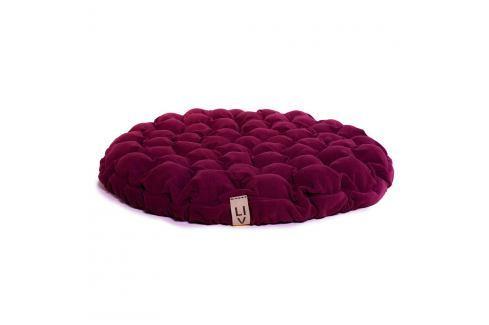 Cyklamenově růžový sedací polštářek s masážními míčky Linda Vrňáková Bloom, Ø75cm Polštáře apřehozy