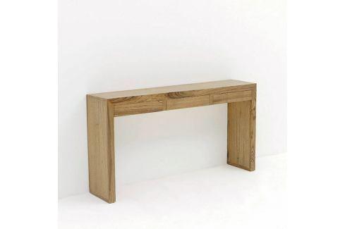 Hnědý dřevěný konzolový stolek Thai Natura, 140 x 75 cm Noční stolky