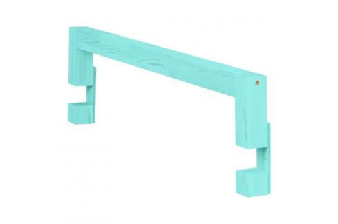 Tyrkysová bočnice z smrkového dřeva k posteli Benlemi Safety,délka90cm Jednolůžkové postele