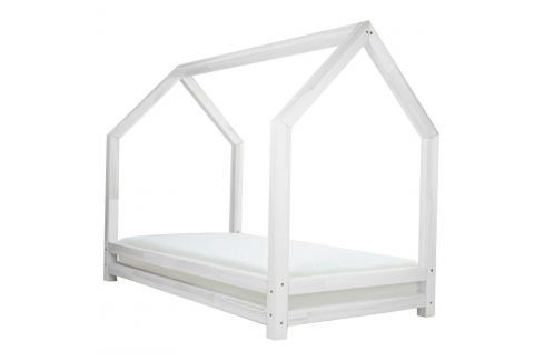 Bílá dětská postel z lakovaného smrkového dřeva Benlemi Funny, 90 x 160 cm Jednolůžkové postele