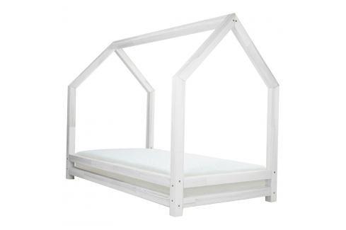 Bílá dětská postel z lakovaného smrkového dřeva Benlemi Funny, 90 x 200 cm Jednolůžkové postele