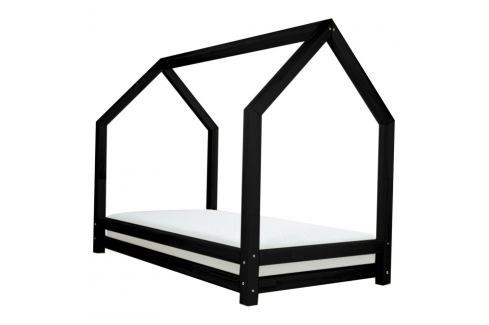 Černá dětská postel z lakovaného smrkového dřeva Benlemi Funny, 90 x 160 cm Jednolůžkové postele