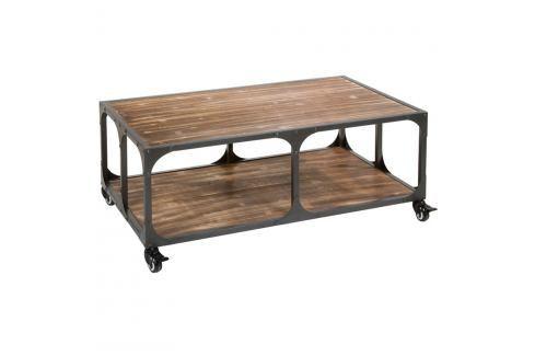 Konferenční stolek z jedlového dřeva a kovu Santiago Pons London Industrial Konferenční apříruční stolky