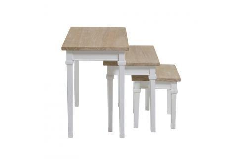 Sada 3 stolků z dřeva Pawlonia Santiago Pons Jídelní stoly
